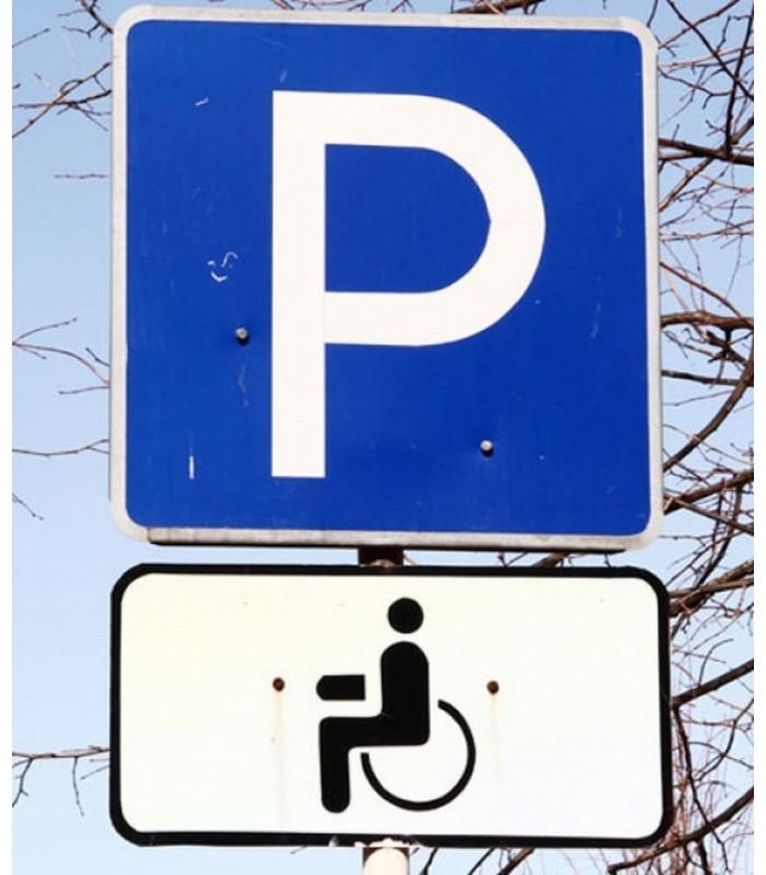 """Дорожный знак """"Парковка для инвалидов"""". Полный комплект для установки"""