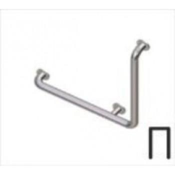 Поручень стальной угловой Г-образный (правый) 90°, 600х600 мм.