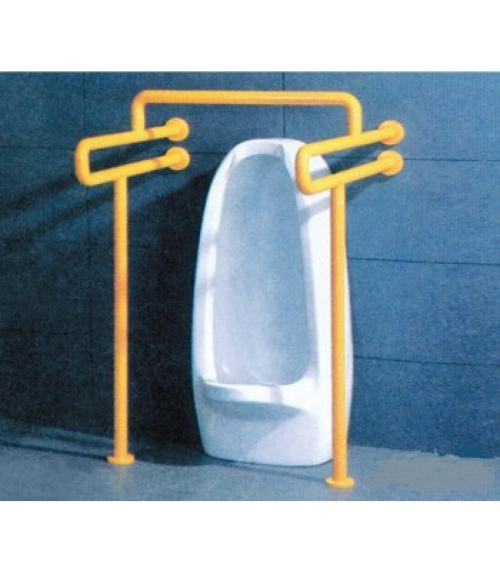 Поручень HS-004 U-образный для туалетов/писсуаров с креплением к полу