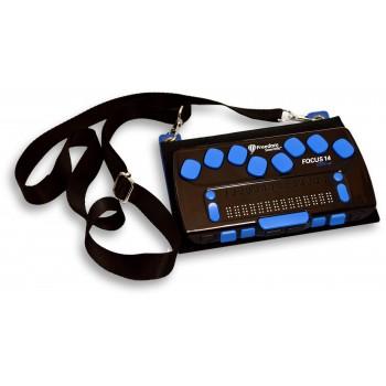 Портативный тактильный дисплей Брайля Focus 14 Blue