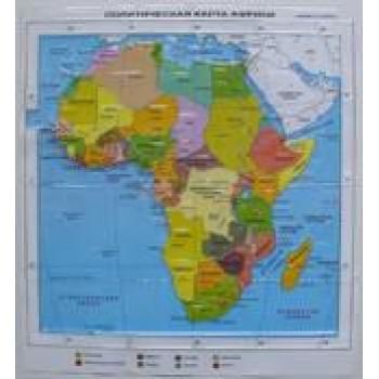 Политическая административная карта Африки с краткой справкой о странах