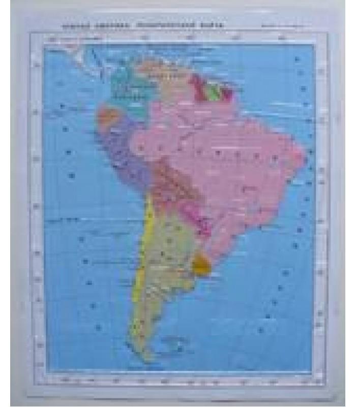 Политическая карта Южной Америки
