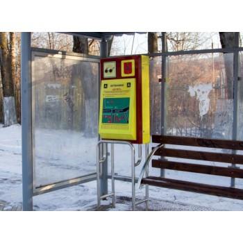 Тактильно-звуковая мнемосхема для автобусной остановки марсшрутного транспорта