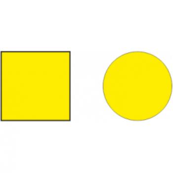 Наклейка на двери круг. Желтая 100мм